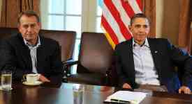Senator John Boehner and President Barack Obama